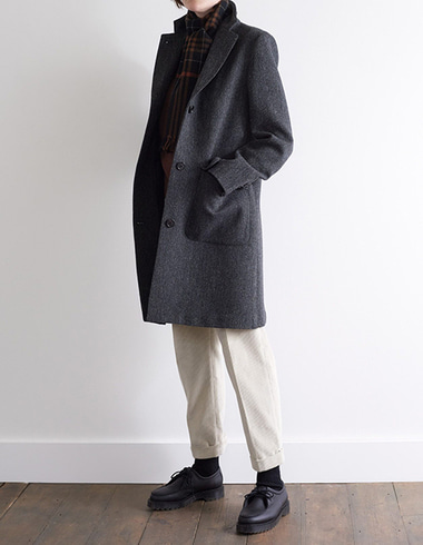 COAT WITH WRAP COLLAR